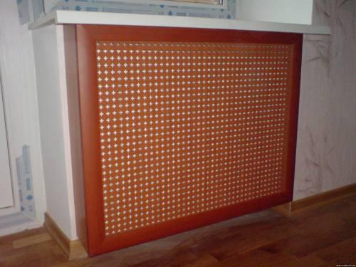 Изготовление экранов для батареи своими руками 160